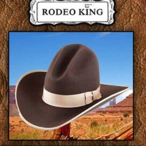 Rodeo King cowboy hat 3x wool long oval 7 1/2 NWT